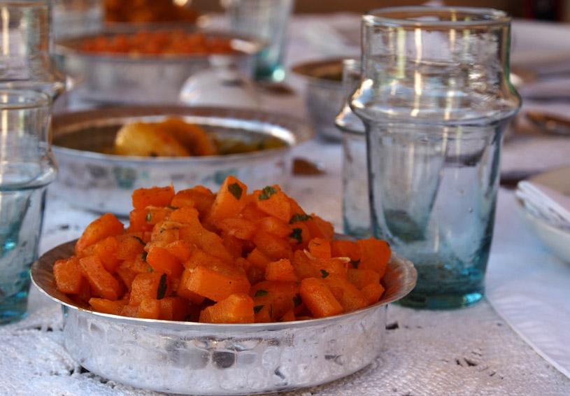 lunch-carot-terrace-january dar kawa riad-location-3
