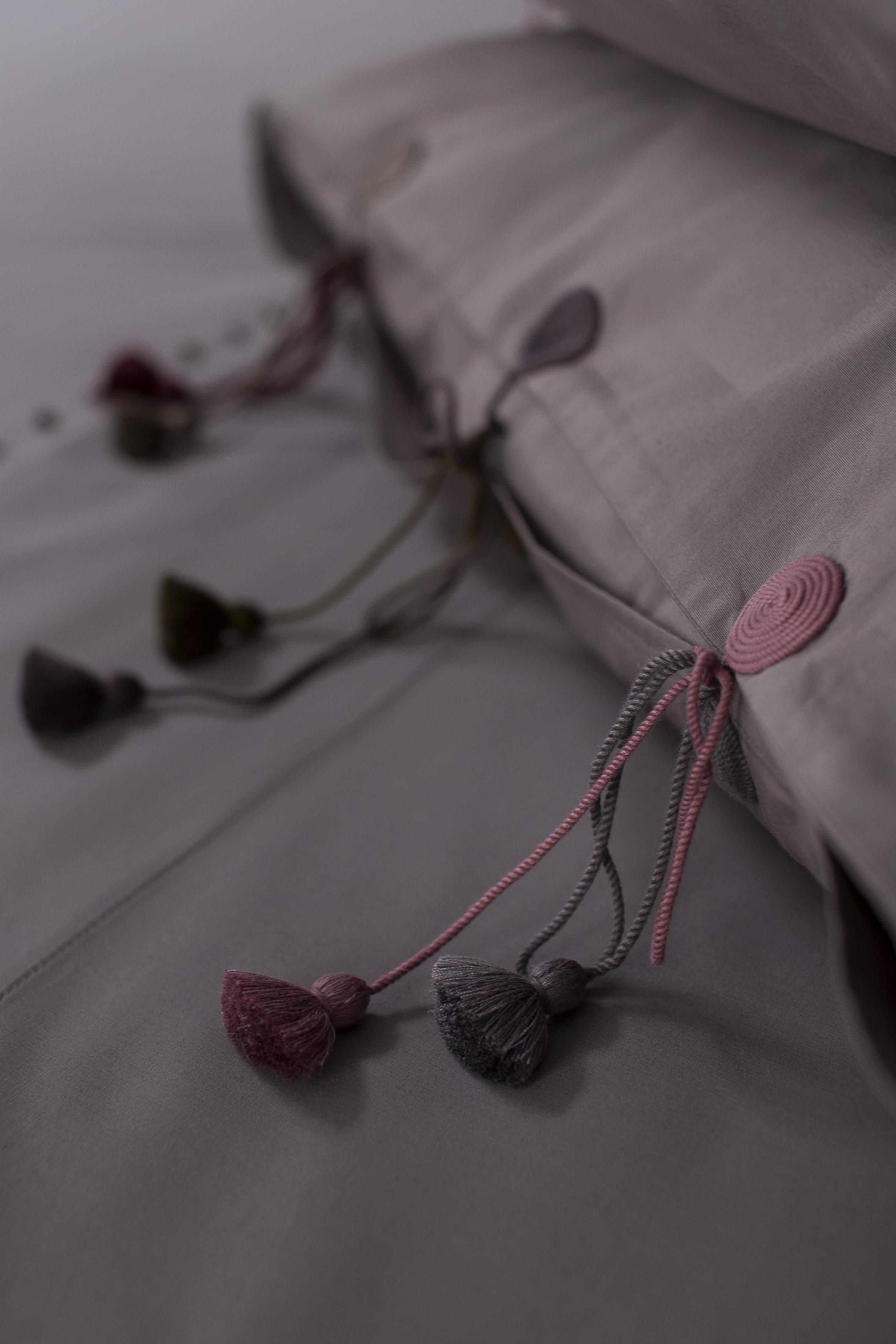 grey bed linen