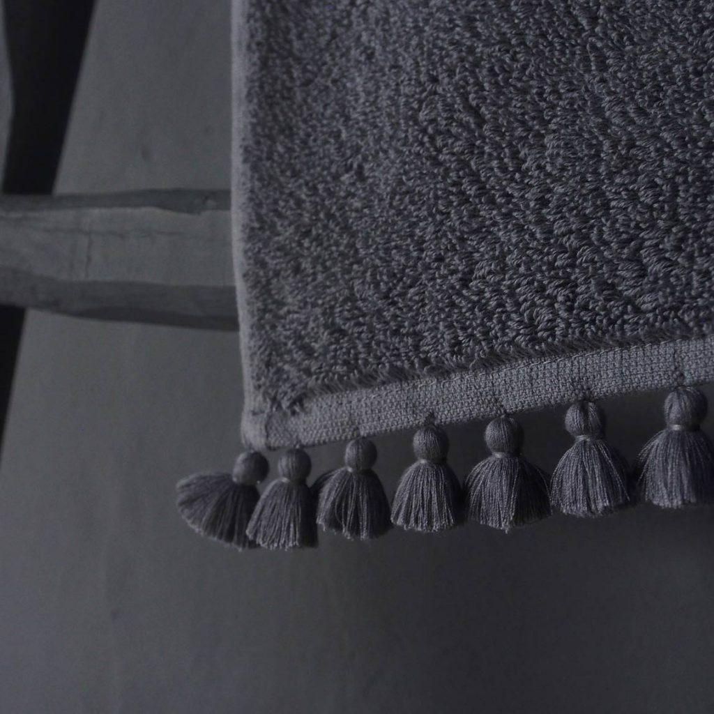 grey bath linen