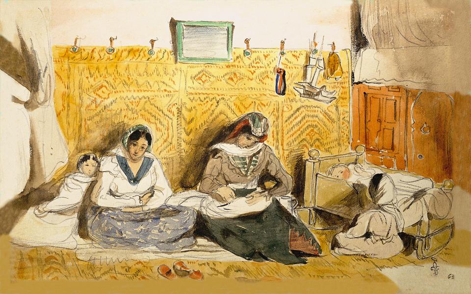 Delacroix dessin maroc 2