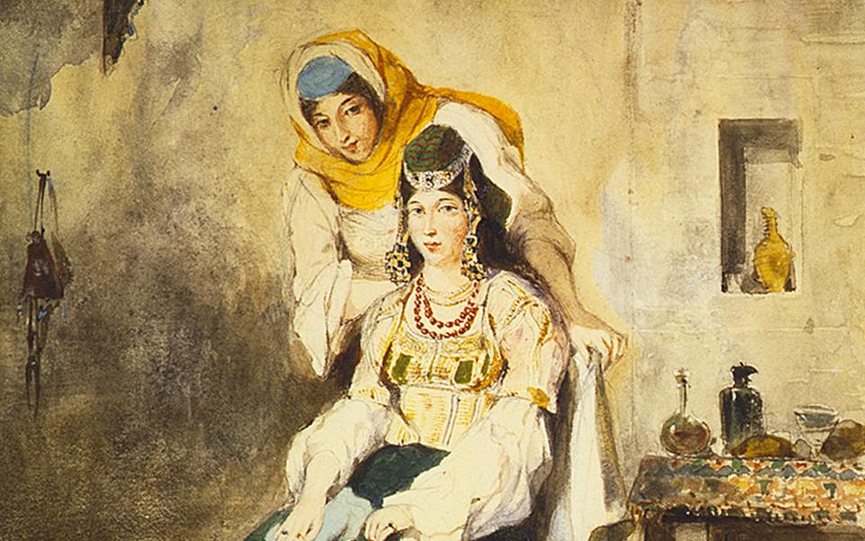 Delacroix dessin maroc 1