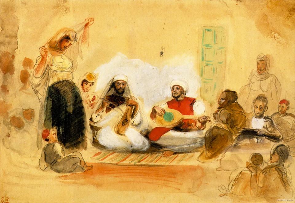 Delacroix dessin maroc 3