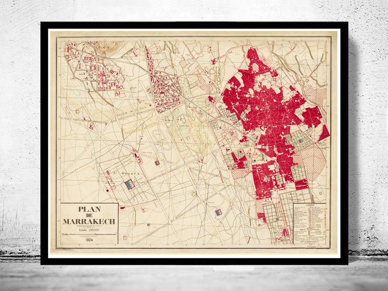 Marrakech vintage map 1