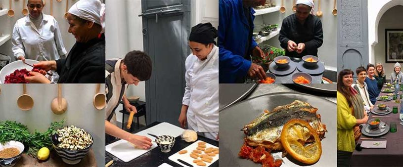cooking class with domaine sauvage at Dar Kawa 6