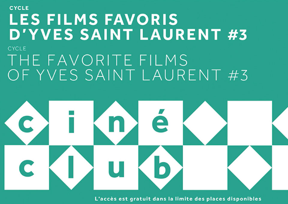 cinema clubs of the YSL museum program