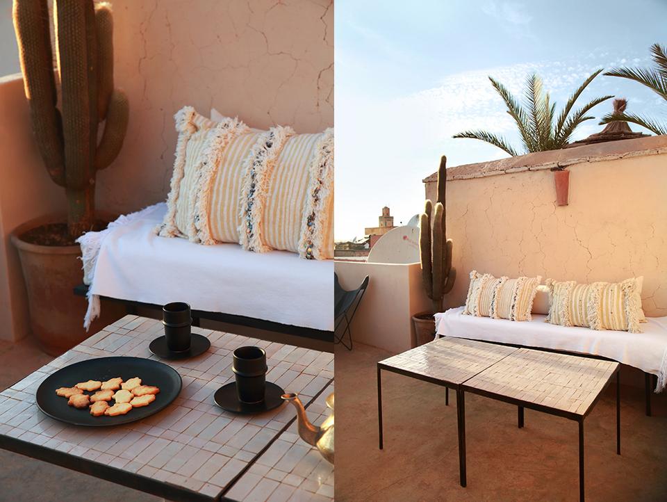 Dar Kawa the terrace moroccan tea at sunset