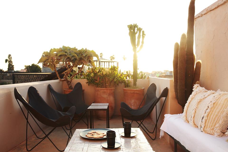 Dar Kawa the terrace medina Marrakesh boutique riad